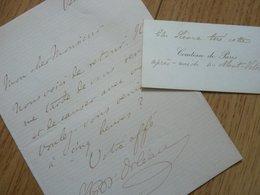 LOUIS PHILIPPE D'ORLÉANS (1838-1894) Comte De Paris. Petit Fils ROI Louis Philippe. AUTOGRAPHE - Handtekening
