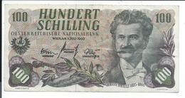 Autriche,billet De 100 Schilling Ayant Circulé - Oesterreich