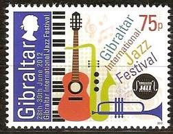 Gibraltar 2012 Yvertn° 1484 *** MNH Cote 2,60 Euro Musique Jazz Festival - Gibraltar