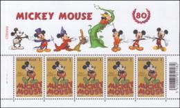 Belgium PF 3784** Mickey Mouse MNH Feuillet De 5 Planche 1 - Neufs