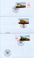 Belgium 2993/95 Trains 1er Jour - 2001-10