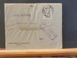 83/364 LETTRE ESPAGNE POUR LA FRANCE  CENSURE BURGOS + VERSO  1938 - 1931-Aujourd'hui: II. République - ....Juan Carlos I