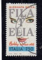 ITALIA REPUBBLICA ITALY REPUBLIC 1992 GIORNATA DELLA FILATELIA AUTOADESIVO STAMP DAY SELF-ADHESIVE LIRE 750 USATO USED - 6. 1946-.. Repubblica