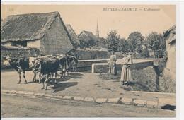 Béville Le Comte (28 Eure Et Loir) L'abreuvoir - Beauce Vachère Troupeau De Vaches - édit ND Phot N° 573 (texte En Haut) - France
