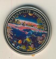 Rebublic Of Palau, 1 Dollar, Farbmünze,stgl.,1993, Marine-Life-Protection  (54012) - Palau
