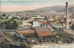 CPA - SAINT ETIENNE - Les Mines De La Loire Et La Ville - LL - Saint Etienne