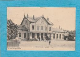 Pierrefonds, 1908. - La Gare. - Chemin De Fer Du Nord. - Attelage. - Pierrefonds