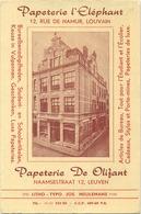 LEUVEN - LOUVAIN :  Papeterie L' Eléphant ( Naamsestraat )   15.5 X 10 Cm - Buvards, Protège-cahiers Illustrés