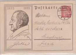 Entier Goethe 15Pf, De Kehl Pour Strasbourg, 12/10/1933 - Allemagne