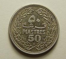 Lebanon 50 Piastres 1952 Silver - Liban