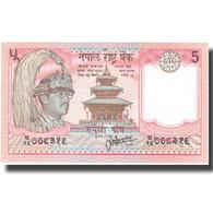 Billet, Népal, 5 Rupees, Undated (1987- ), KM:30b, NEUF - Népal
