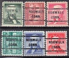 USA Precancel Vorausentwertung Preo, Locals Connecticut, Norwalk 233, 6 Diff. - Vereinigte Staaten
