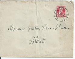 Brief Met OCB 74 - Afstempeling BORGLOON - COBA 4 - 1905 Grosse Barbe