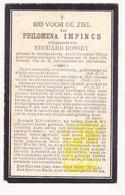 DP Philomena Impincs ° Oostduinkerke Koksijde 1856 † Veurne 1929 X Edouard Rossey - Images Religieuses