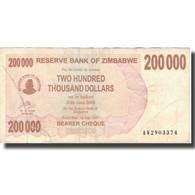 Billet, Zimbabwe, 200,000 Dollars, 2008, 2008-06-30, KM:49, TB - Zimbabwe