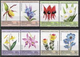 1985 SAINT VINCENT Grenadines 392-99** Fleurs, Orchidée - St.Vincent & Grenadines
