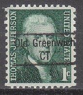 USA Precancel Vorausentwertung Preo, Locals Connecticut, Old Greenwich 843 - Vereinigte Staaten