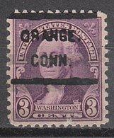 USA Precancel Vorausentwertung Preo, Locals Connecticut, Orange 720-L-2 HS - Vereinigte Staaten