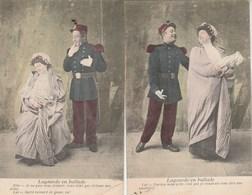 Lot 2 Cartes  LAGOURDE En Ballade - Militaria Humoristique - Couples