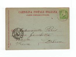 Sur Carte Postale Torino Pour Valence Type Blanc 5 C. Vert Jaune CAD Constantinople Turquie 1900. CAD Valence. (1134x) - 1858-1921 Empire Ottoman