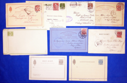 Danimarca 9 Stamped Stationery VF/F - Entiers Postaux