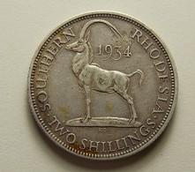 Southern Rhodesia 2 Shillings 1934 Silver - Rhodésie