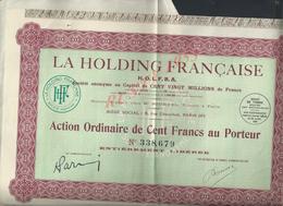 ACTION LA HOLDING FRANÇAISE  : - Electricité & Gaz