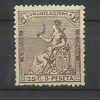 ESPAÑA  EDIFIL  135  (*)  (SIN GOMA) - 1873 1ª República