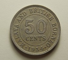Malaya And British Borneo 50 Cents 1954 - Malaysie