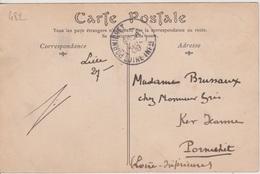 TAD Pornichet échopé?? À Réception Sur CP De Reims Postée à Lille-Gare, 28/07/1909 - Postmark Collection (Covers)