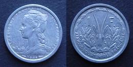 AEF Afrique Equatoriale Française 1 Franc 1948 Aluminium TTB - Colonies