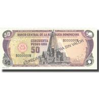 Billet, Dominican Republic, 50 Pesos Oro, 1998, 1998, Specimen, KM:155s2, NEUF - Dominicaine