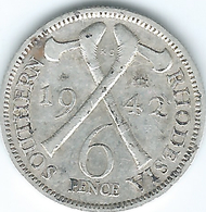 Southern Rhodesia - George VI - 6 Pence - 1942 - KM17 - Rhodesia