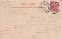 PAYS-BAS 1906 CARTE POSTALE DE SCHEVENINGEN  CACHET HOTEL - Periode 1891-1948 (Wilhelmina)