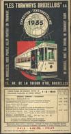 """Dépliant """" Les Tramways Bruxellois """" Exposition 1935 Avec Plans Superbe état - Chemin De Fer & Tramway"""