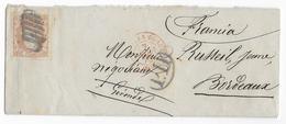 ESPAGNE - 1870 - LETTRE De MADRID => BORDEAUX - ENTREE AMBULANT ST JEAN DE LUZ - Cartas