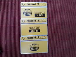 3 Phonecards Private Taxi Claude & Roland 201 L (Mint,Neuve) Very  Rare - Schweiz