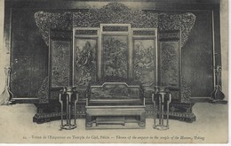 CPA CHINE - PEKIN ( Asia  ) - Trone De L'empereur Au Temple Du Ciel - Throne Of The Emperor In The Temple Of The Heaven - Chine
