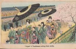 """JAPON """"Yujos"""" Of Yoshiwara Taking Their Works - Non Classés"""