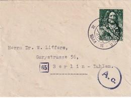 PAYS-BAS 1944 LETTRE CENSUREE DE GRAVENHAGE POUR BERLIN - 1891-1948 (Wilhelmine)
