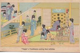 """JAPON  """"Yujos"""" Of Yoshiwara Making Their Toilettes - Non Classés"""