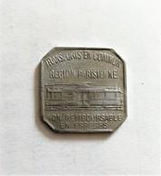 Token Jeton Nécessité.Transports En Communs Paris 25 Centimes 1921 - Monétaires / De Nécessité