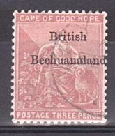 Bechuanaland - 1886/89 - N° 8 Oblitéré - Filigrane CA - Bechuanaland (...-1966)