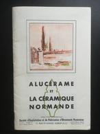 ALUCERAME ET LA  CERAMIQUE NORMANDE USINE  A ELBEUF ( 76 ) . LOT DE 5 DOCUMENTS PUBLICITAIRES DES ANNEES 1950. - Advertising