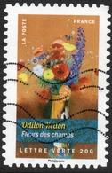 2015 Odilon Redon Fleurs Des Champs.valeur Faciale : 0,68 € Timbre Usagee De France Bouquets De Fleurs - France