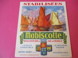 Buvard//Stabilisées/MABISCOTTE/Régates Voiliers/Biscotterie Ile De France/MITRY-MORY (S&M)/Sirven/Vers 1940-1960  BUV436 - Zwieback