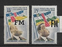 Centrafrique, YT Franchise Militaire. N° 1 & 2  Neufs***, Cote 31€ - Centrafricaine (République)