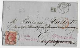 ESPAGNE - 1862 - LETTRE De BARCELONA => PERPIGNAN REEXPEDIEE => MARSEILLE - 1850-68 Königreich: Isabella II.