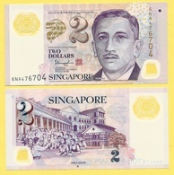 Singapore 2 Dollars P-46h 2016 UNC - Singapour