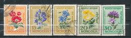 N° Yv 163/167 - Fleurs - Mongolie